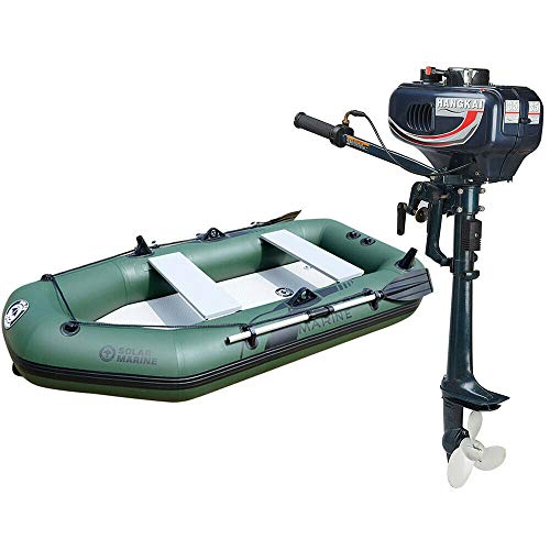 TFCFL Outboard Motor Boat Engine, 3.5/3.6/4/6/6.5/7 HP 2/4 Stroke Outboard Motor Marine Inflatable Fishing Boat Engine with CDI Water Air Cooling System (3.5HP 2 Stroke 2.5KW 16'')