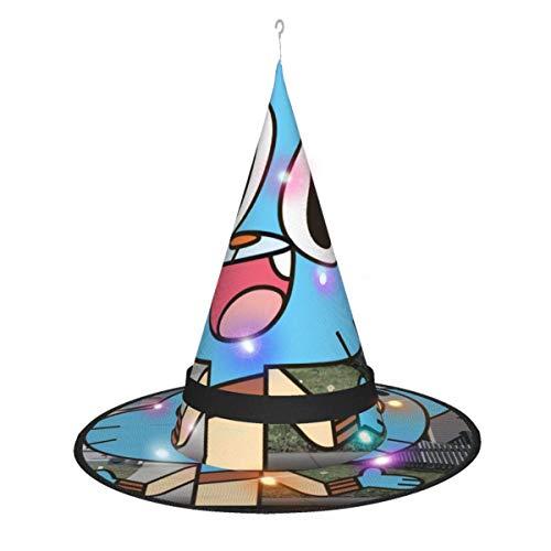AOOEDM, Sombrero de Bruja de Halloween, decoracin de Fiesta, Cosplay, el Asombroso Mundo de Gumball, Sombrero de Bruja para Mujer, Accesorio de Disfraz