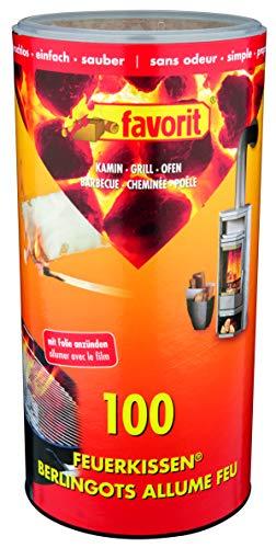 Favorit Anzünder für Kamin, 100 Stück, Feuerkissen, Ofenanzünder, Kohleanzünder, Anzündwürfel – 1210