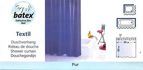 Batex Duschvorhang PUR Farbe: blau 78422 BxH 180x200 cm Badewannenvorhang Wannenvorhang Textilvorhang Dusche Vorhang für die Dusche