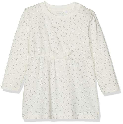 Name IT NOS Baby-Mädchen Kleid NBFDELUCIOUS LS TUNIC NOOS, Weiß (Snow White), (Herstellergröße: 74)