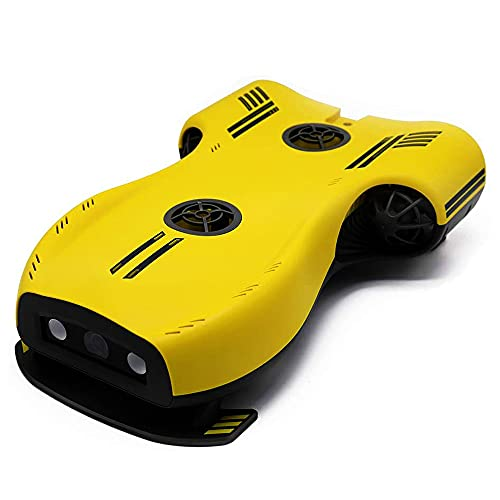 QHYZRV Drone Subacqueo, Palmare, Full HD, con Fotocamera, Visualizzazione in Tempo Reale, Telecomando E Portabilità Tramite App, Fotografia di Salvataggio, Impostazione della profondità con