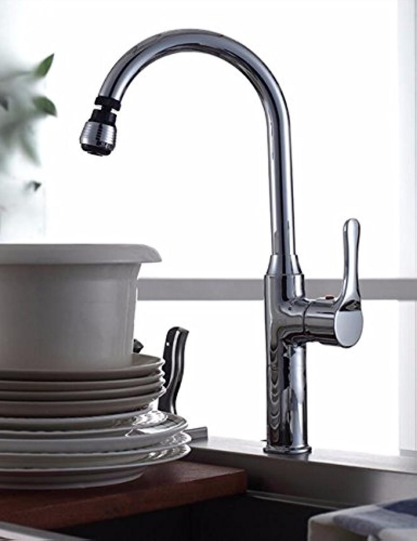 Gyps Faucet Waschtisch-Einhebelmischer Waschtischarmatur Badarmatur360° warme und kalte Küche voll Kupfer Wasserhahn mit Hohen Einzelne Single Loch Wasserbecken Griff Gerichte Socket Dual-Slot was