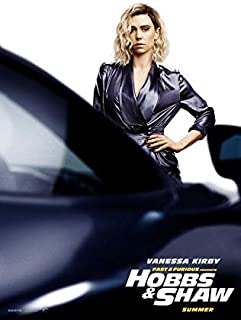 映画 ワイルド・スピード/スーパーコンボ 約90cm×60cm シルク調生地のアートポスター 04 ワイルドスピード Fast & Furious Hobbs & Shaw