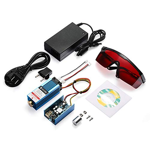 SainSmart 455nm Blue-Violet Light Fixed Focus Laser Module Kit for Genmitsu CNC Machine 3018-MX3/3018-PROVer