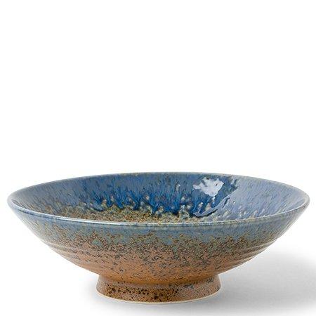 "Aoi Nagashi 9.5"" Ceramic Serving Bowl"