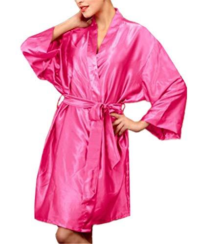 Crystallly Badjassen Dames Monochrome Casual Slaap Shirt Lange Mouw Oversized Pajama Eenvoudige Stijl Losse Grootte Maten Slaapmode Zacht Met Verwijderbare Riem Nachtjassen Thuis Mode Comfortabele pyjama