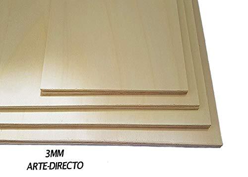 Piastra di legno compensato, 3 mm rivestimento esterno antiscivolo, in betulla del Baltico, ideale per pirografia, taglio laser, router CNC, modellismo, parte bordata