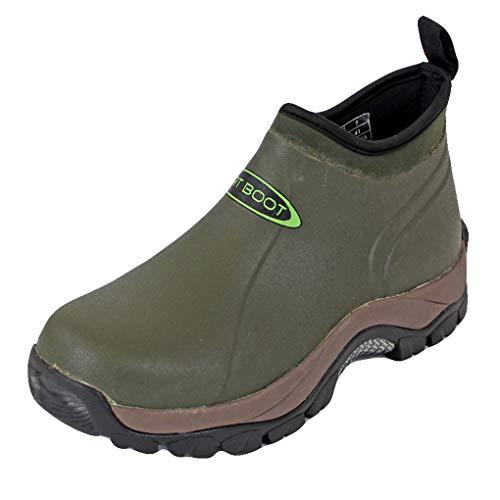 Dirt Boot Neoprene Wellington Pro-Sport Ankle Muck Boot Shoe (Green, 7 UK, numeric_7)