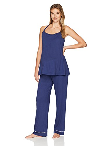 Cosabella Women's Bella Maternity 4-Piece Gift Set, Marine Blue/Moonivory, Large