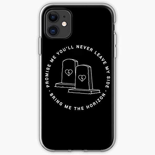 Jinfugongmao Compatibile con iPhone 12/11 PRO Max 12 Mini SE X/XS Max XR 8 7 6 6s Plus Custodie BMTH Horizon Band Album Tour Me Metal Bring The Live Custodie per Telefoni Cover