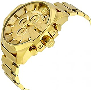 Diesel Dress Watch For Men Analog Yellow Gold Plated - DZ4360