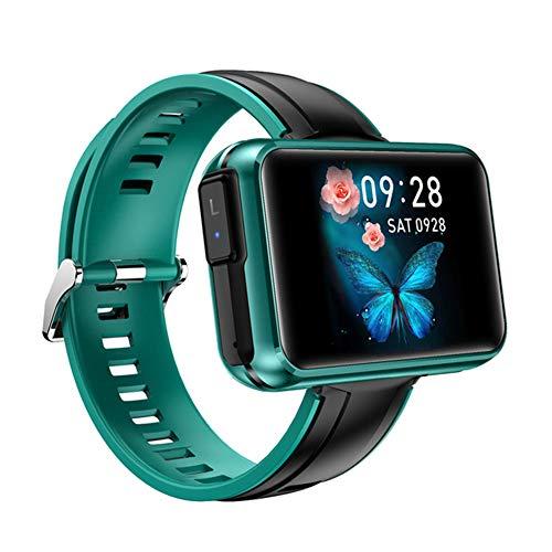 Relojes Pulsera Reloj Inteligente 2 En 1 Con Auriculares Inalámbricos Bluetooth TWS, Pulsera Inteligente Con Pantalla Táctil 1,4 ', Fitness Tracker Auriculares Combo Running Music Pulsera Watche,Verde