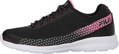 Fila Womens Memory Decimal Fitness Workout Running Shoes Black 9 Medium (B,M)