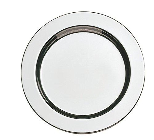 APS Untersetzer Set (6 Stück) aus hochwertigem Edelstahl poliert, Ø 12 cm, schwere Ausführung, Rand eingerollt, hochglanzpolierte Glasuntersetzer, rund