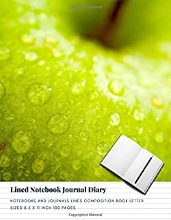 Lined Notebook Journal Diary: Notebooks And Journals Lines Composition Book Letter sized 8.5 x 11 Inch 100 Pages (Volume 20)