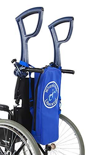 Rollstuhl-Griff-Verlängerungen – 2 x einfach zu bedienende Griff-Verlängerungen, leicht und tragbar, Rollstühle nach oben und unten, Rollstühle über rauem Gelände, ergonomisches Design