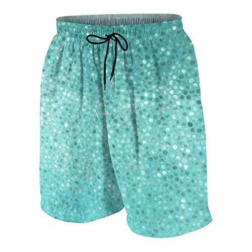 SUHOM Uomo Casuale Pantaloncini da Surf,Piastrelle a Mosaico a Piccoli Punti Forma Design Artistico Creativo Classico Semplice,Costume da Bagno Sportivo Abbigliamento da Spiaggia con Fodera in Rete