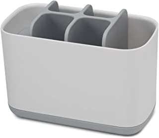 Joseph Joseph 70510 EasyStore Toothbrush Holder Bathroom Storage Organizer Caddy, Large, Gray