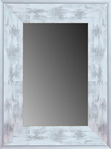 Lienzos Levante DA2101 – 6 – Miroir Décoratif Bain/Accueil, 95 x 74 cm, Couleur Blanc et Argent