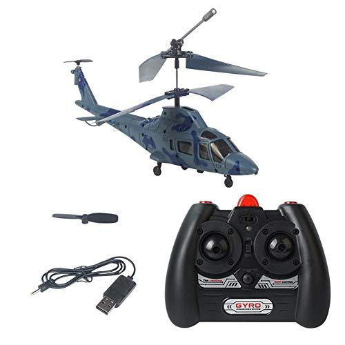 Helicóptero teledirigido de 3,5 canales, modelo mini, dron de avión, plegable, con luz giroscópica azul azul