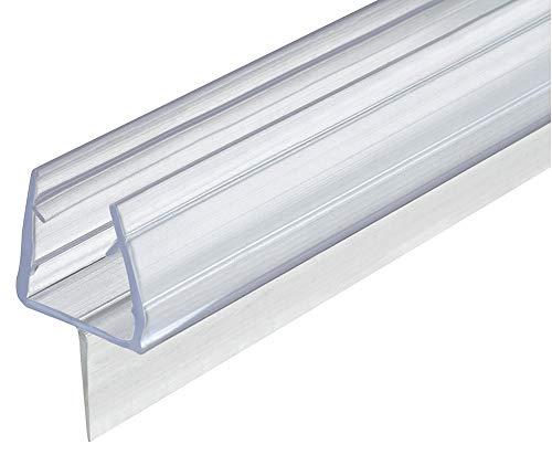 Gedotec Glastürdichtung 200 cm Duschtür-Dichtung Glas & Boden für Duschkabinen & Glastüren | Duschdichtung 2000 mm zum Abdichten vom Boden | PVC Transparent | Lippendichtung für Glasdicke 10-12 mm