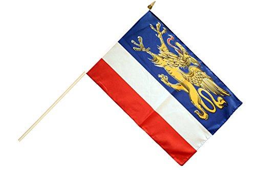 Flaggenfritze® Stockflagge Deutschland Stadt Rostock - 30 x 45 cm