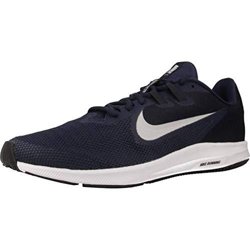 NIKE Herren Nike Downshifter 9 Schuh, Blau Midnight Navy Pure Platinum 401, 48.5 EU