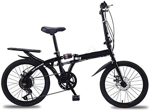Bicicleta plegable ligera de 16/20 pulgadas, pequeña bicicleta portátil para adultos, para ir al lugar de trabajo, para luz escolar y freno de disco doble de 50 cm