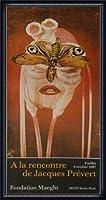 ポスター ジャック プレヴェール Papillon 1987 額装品 ウッドハイグレードフレーム(ネイビー)