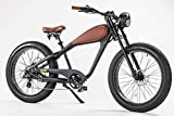 48V 750W Vintage Beach Cruiser Fat Tire Cheetah Cafe Racer Electric Bike 17.5Ah