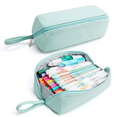 KALIDI - Astuccio unisex per matite, per ragazze, adolescenti (verde)