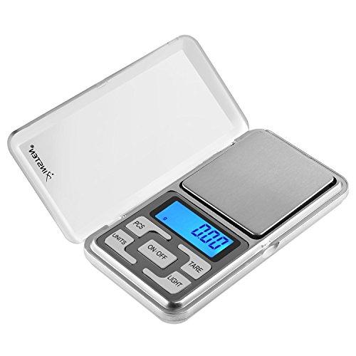 Insten Digital Pocket Scale, 0.01-200g, Silver