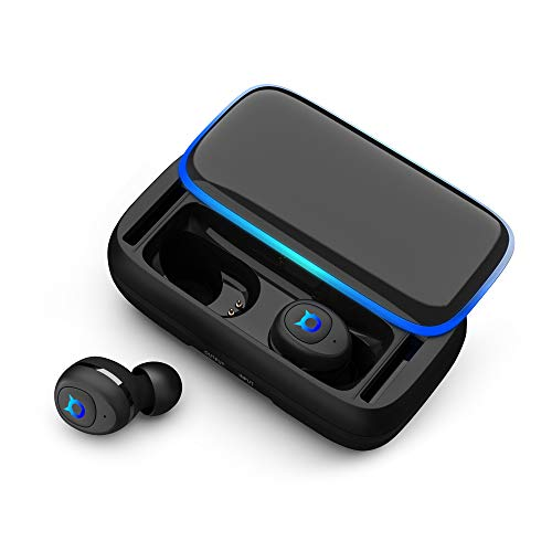 Bluetooth 5.0 Wireless Earbuds with 3000mAh Charging Case[As Power Bank] Up to 150H Playtime,Hi-Fi Stereo Workout Bluetooth Headphones,Stereo Sound Inear Earphones with Built-in HD Microphone-Black
