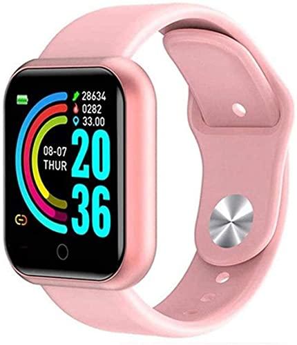 Reloj inteligente rastreador de actividad impermeable con monitor de ritmo cardíaco, monitor de sueño, cronómetro, podómetro, pulsera deportiva, compatible con Android e IOS-B.