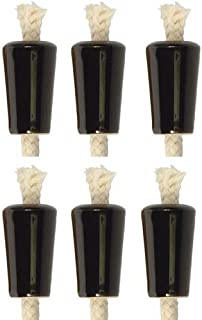 Wine Bottle Candle, Ceramic - Black, Set of 6