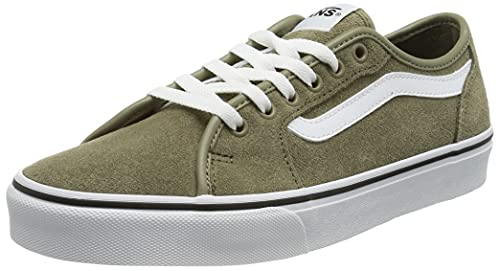 Vans Men's Low-Top Trainers Sneaker, Suede Covert Green White, 10.5