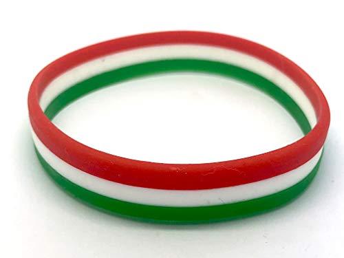 Patch Nation Braccialetti in Silicone Polsino Wristband Bandiera Italia Italiana