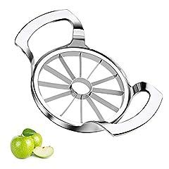 Edelstahl,Apfelschäler,Apfelteiler Obstschneider Apfelstecher Apfelkernausstecher Apfelentkerner,Apfelportionierer