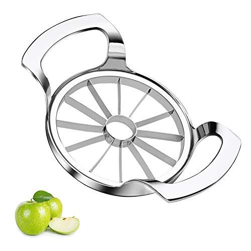Sinnsally Edelstahl,Apfelschäler,Apfelteiler Obstschneider Apfelstecher Apfelkernausstecher Apfelentkerner,Apfelportionierer Bild