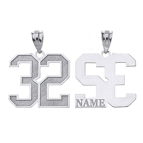 Personalized Your Lucky Number and Name Sports Jersey Silver Pendant