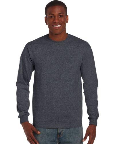 GILDAN - T-shirt - Homme - Gris - Dark Heather - Medium