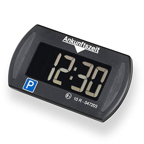Needit Park Mini elektronische Parkscheibe digitale Parkuhr mit offizieller Zulassung des Kraftfahrtbundesamtes I Batterie u. Montage Zubehör