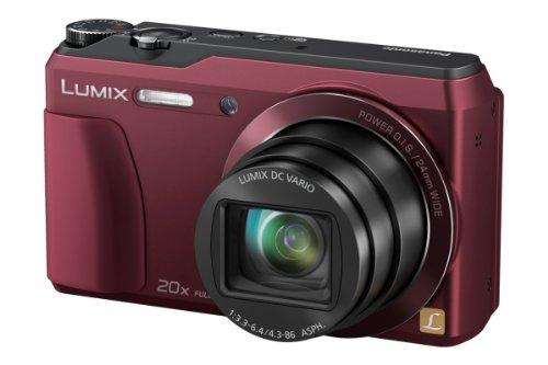 Panasonic DMC-TZ56EG-R Travellerzoom Kompaktkamera (16 Megapixel, 20-fach opt. Zoom, 7,6 cm (3 Zoll) LCD-Display, Full HD, WiFi, USB 2.0) rot