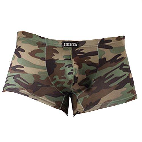 Vividda Camuflaje Calzoncillo Retro Trunks la Ropa Interior de los Hombres Militares de Underpant Small