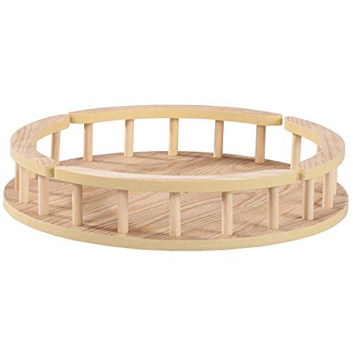 Wood Lazy Susan Turntable 16-Inch Diameter