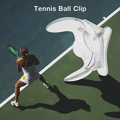 S-tubit Tennisball Taille Clip Halter, durchsichtig, Einteilige Design, langlebig und tragbar, Tennisball-Halter, Tennis-Zubehör