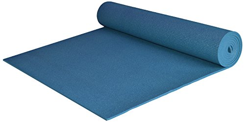 YogaAccessories Extra Wide and Extra Long 1/4'' Thick Deluxe Yoga Mat (Dark Teal)