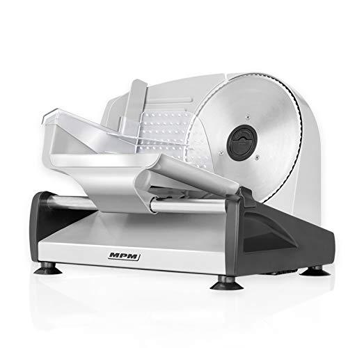 MPM MKR-04M Cortafiambres de acero inoxidable semi-profesional, grosor de corte ajustable 15mm, disco corte 19 cm, 150 W