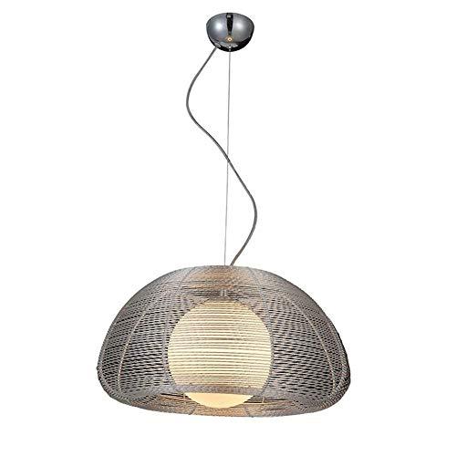 PXY Lámparas Colgantes de Alambre de Aluminio Lámpara de Araña Moderna en Bola de Vidrio Lámpesada, Luz Colgante Creativa con Alambre para Exteriores Al Aire Libre,Imagen